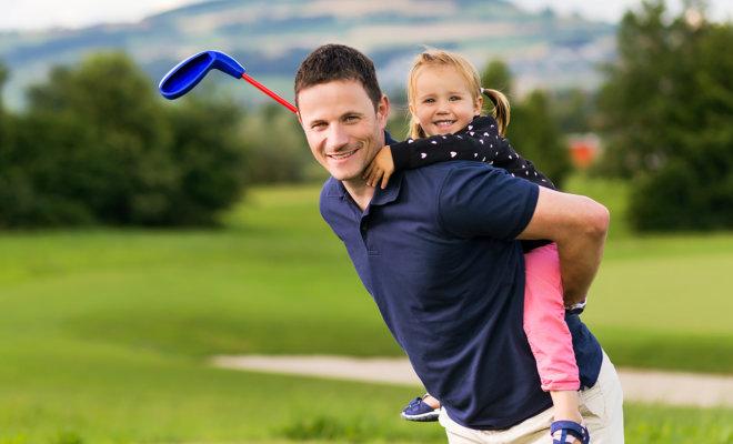 Golfen für Könner und für Anfänger