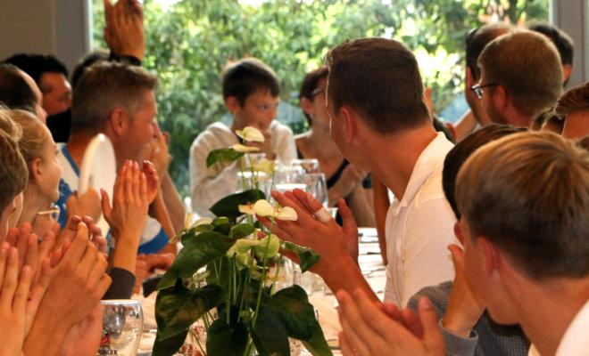 Saal für Feiern, Restaurant Oase