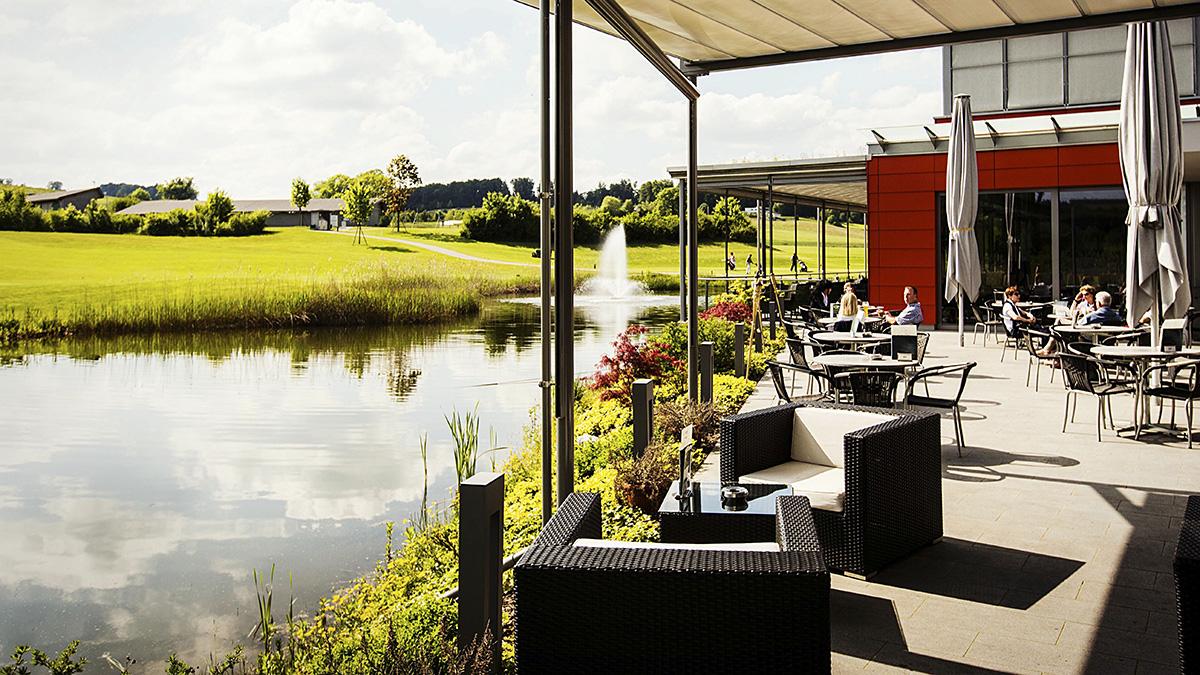 Terrasse in der Oase im Golfpark Oberkirch